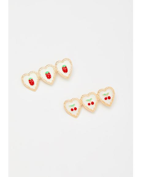 Thinking About Sweets Hair Clip Set