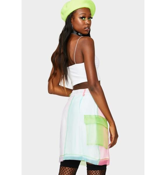 The Ragged Priest Blitz Color Block Organza Skirt