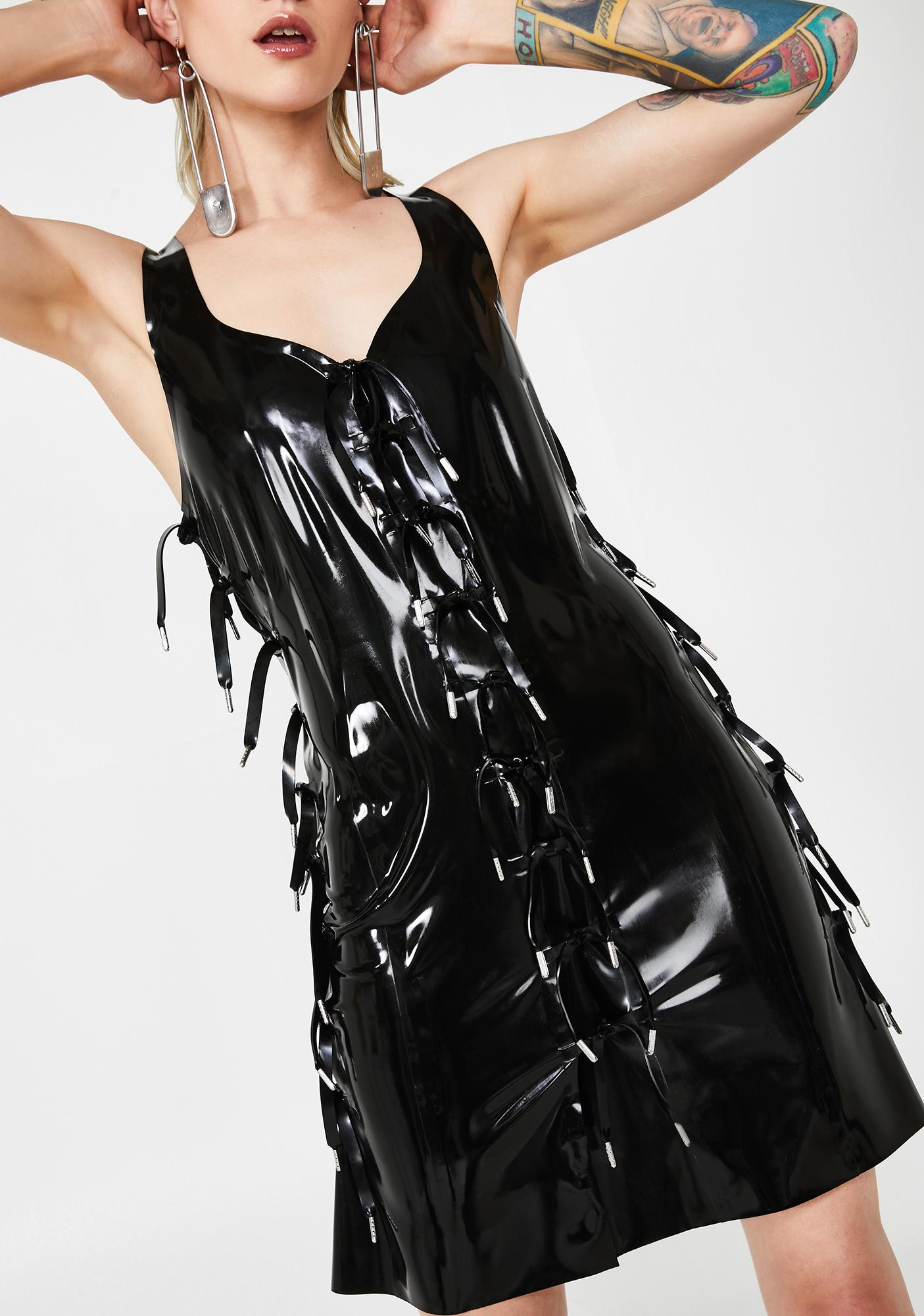 Hanger Expando Latex Dress