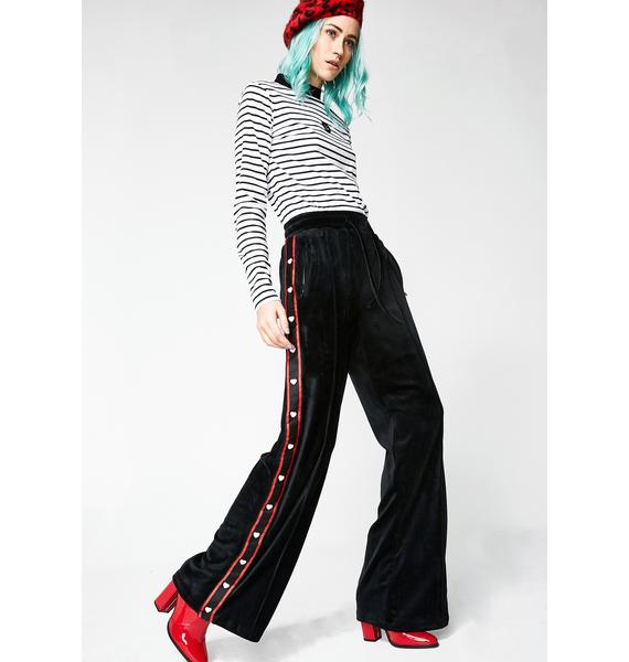 Lazy Oaf Sporty Stripe Popper Pants