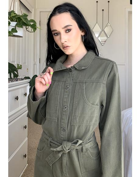 Dark Green Jumpsuit