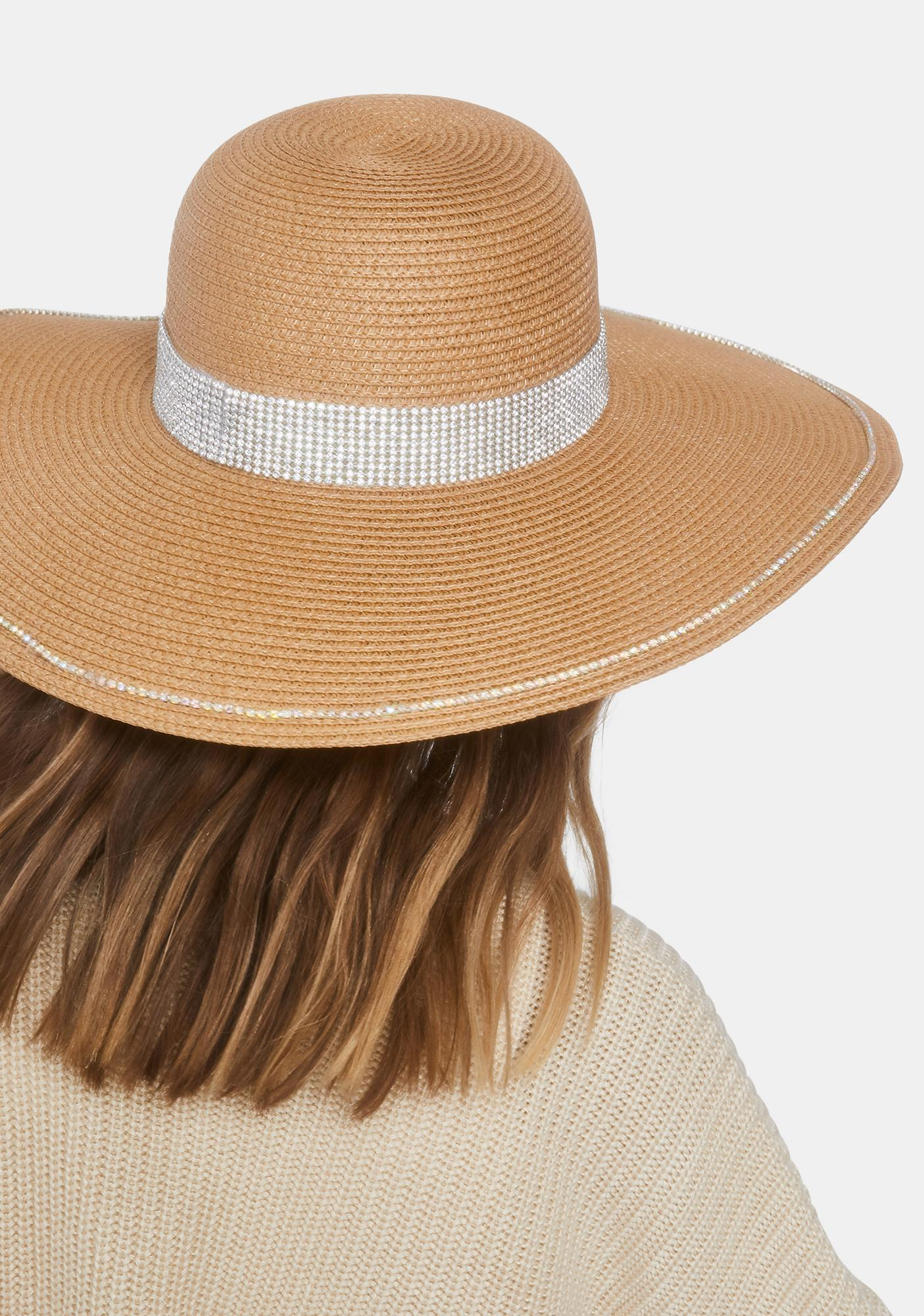 Boho Bling Straw Hat