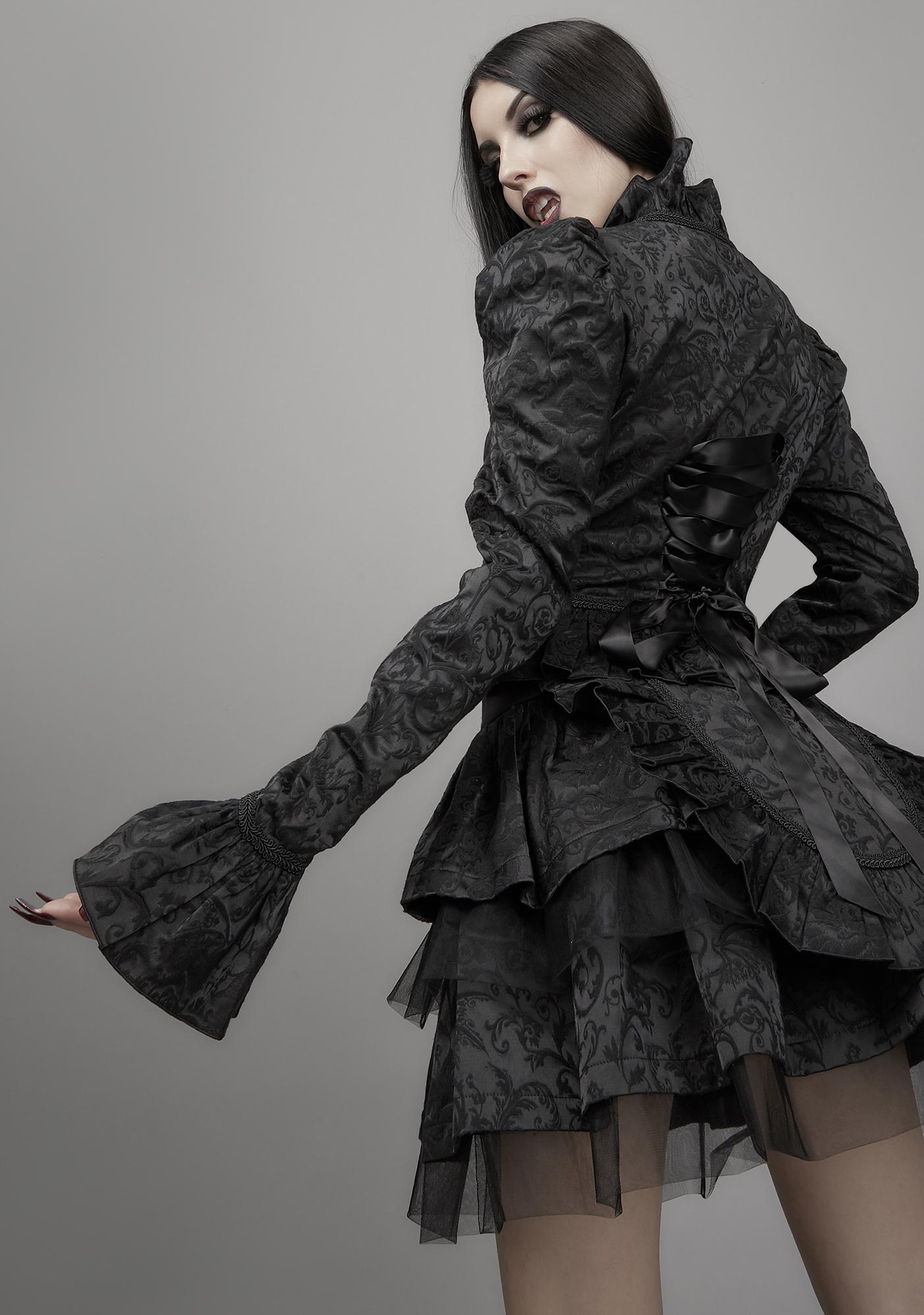 Widow Dark Bidding Lace Up Skirt