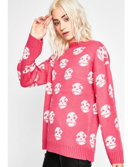 Love Life's DOA Skull Sweater