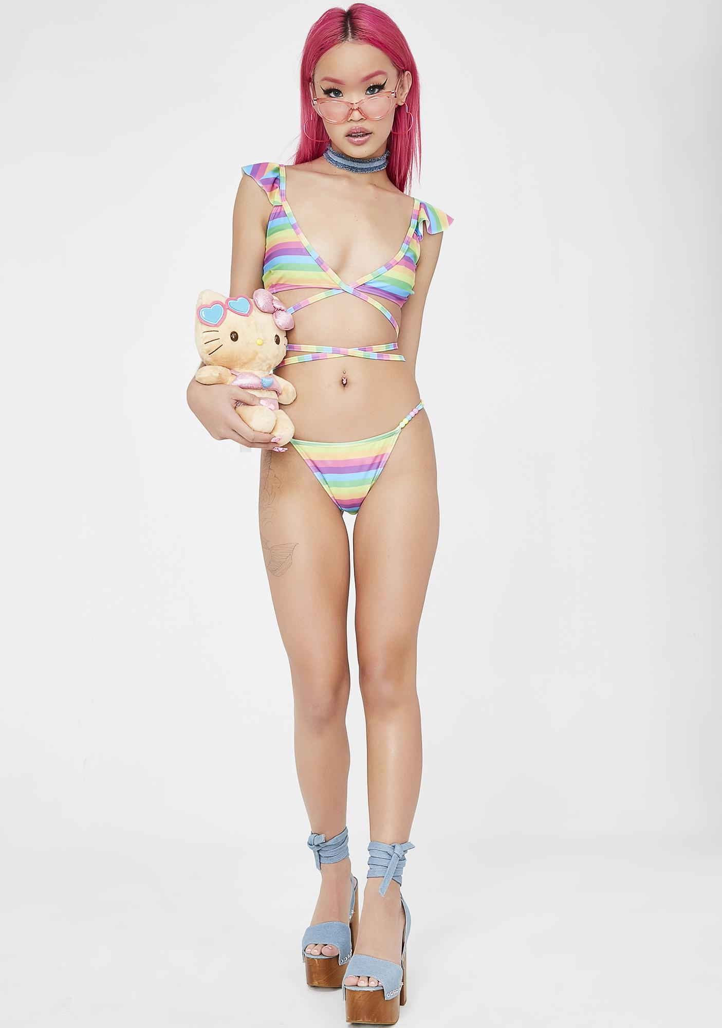Sugar Thrillz Lucky Charm Rainbow Bikini