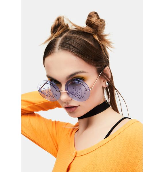 Chill Hot Glare Clear Flame Sunglasses