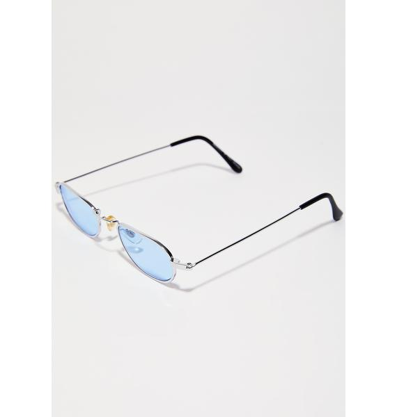 Sky Hard To Please Oval Sunglasses