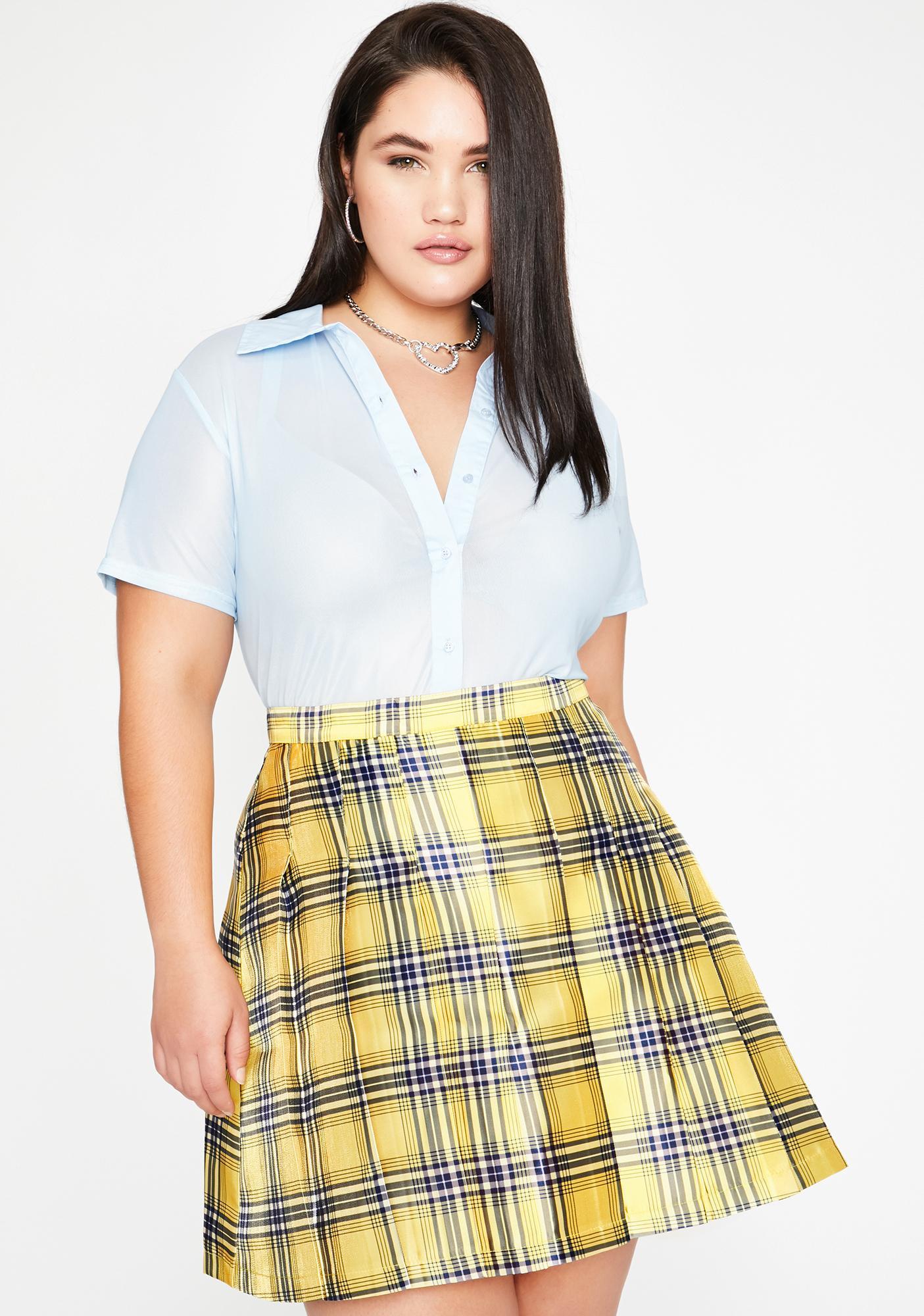 Sugar Thrillz Best Frenemies Forever Plaid Skirt