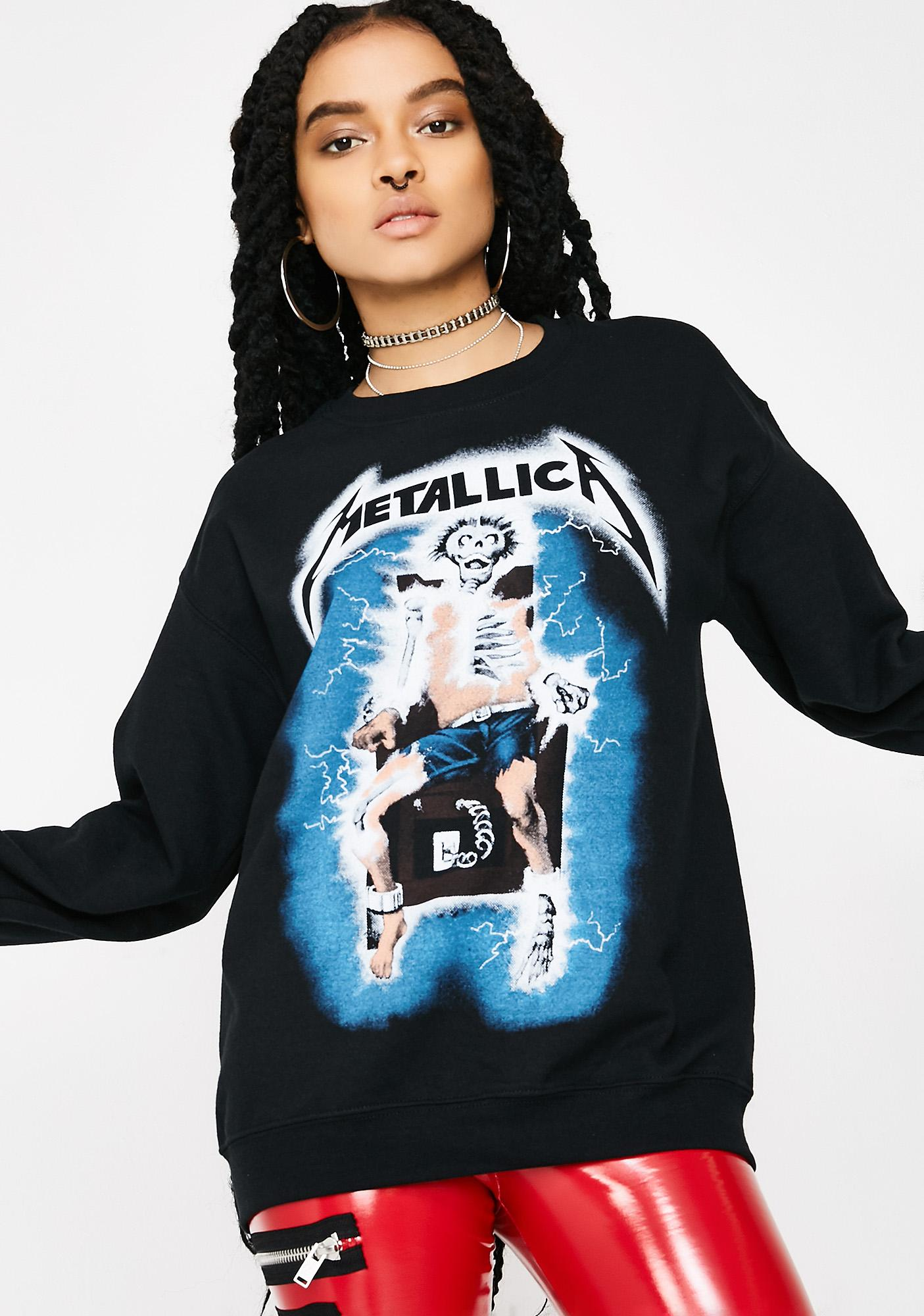 Black Metallica SweatshirtDolls SweatshirtDolls Metallica Kill Black HWE2D9IY