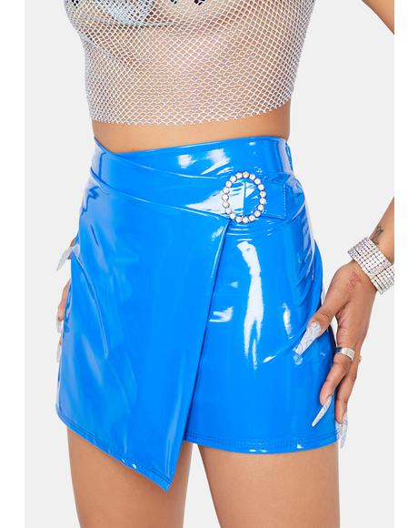 Flashy Girl Vinyl Mini Skirt