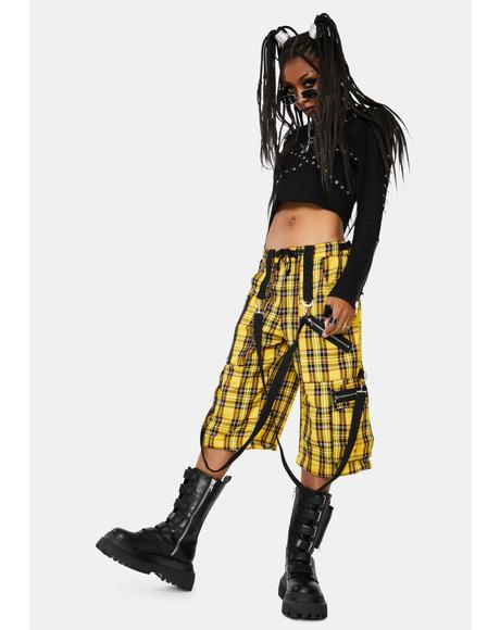 Yellow Plaid Clash Pants
