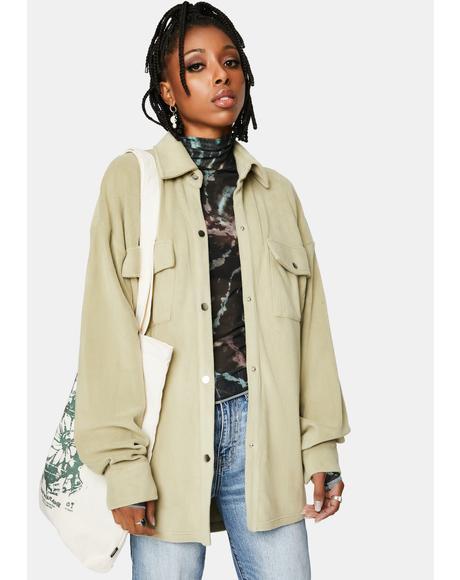 Sage Shirt Jacket