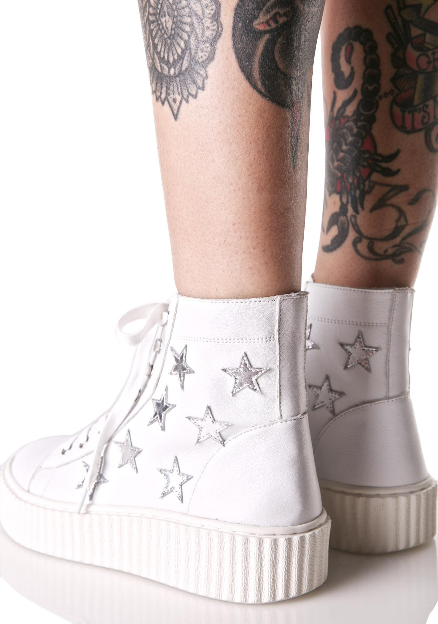 J Slides Richmond High Top Star Sneakers