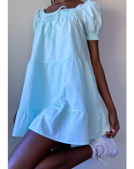 Mint Prairie Paradise Mini Dress