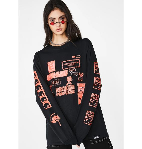 BROKEN PROMISES CO Dont Play Games Graphic Tee