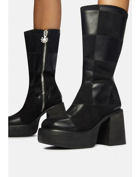 Groovy Move Patchwork Go Go Boots