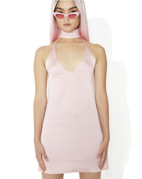 Silky Choker Dress