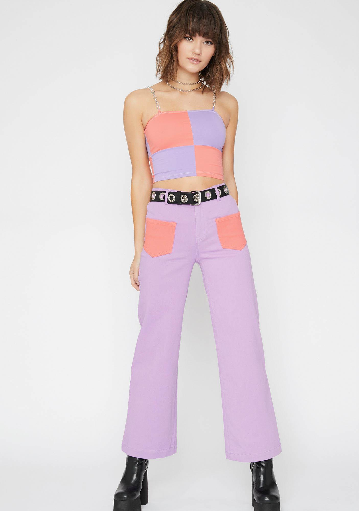 Current Mood Eye Candy Colorblock Pants