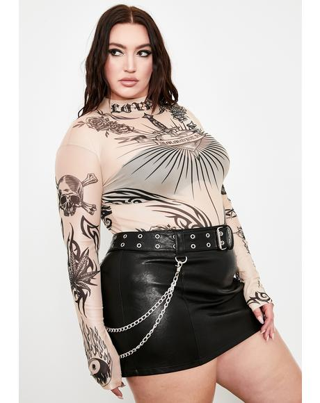 She Lives For Sin Mesh Top