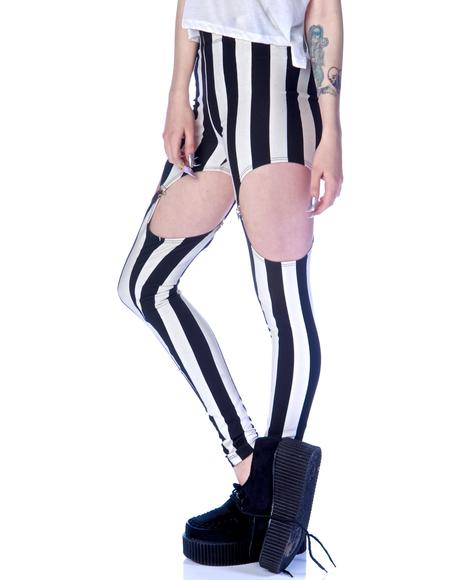 Beetlejuice Garter Leggings