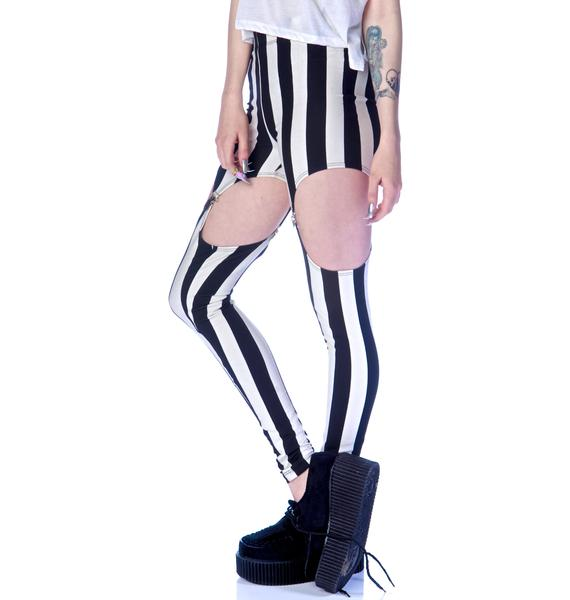 Widow Beetlejuice Garter Leggings