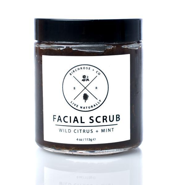 Birchrose + Co Wild Citrus + Mint Facial Scrub