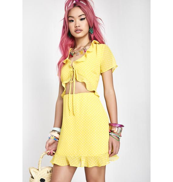 Hello Sunshine Cut-Out Dress