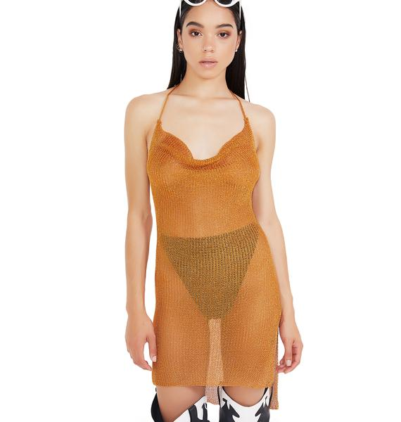 Notorious Mesh Halter Dress