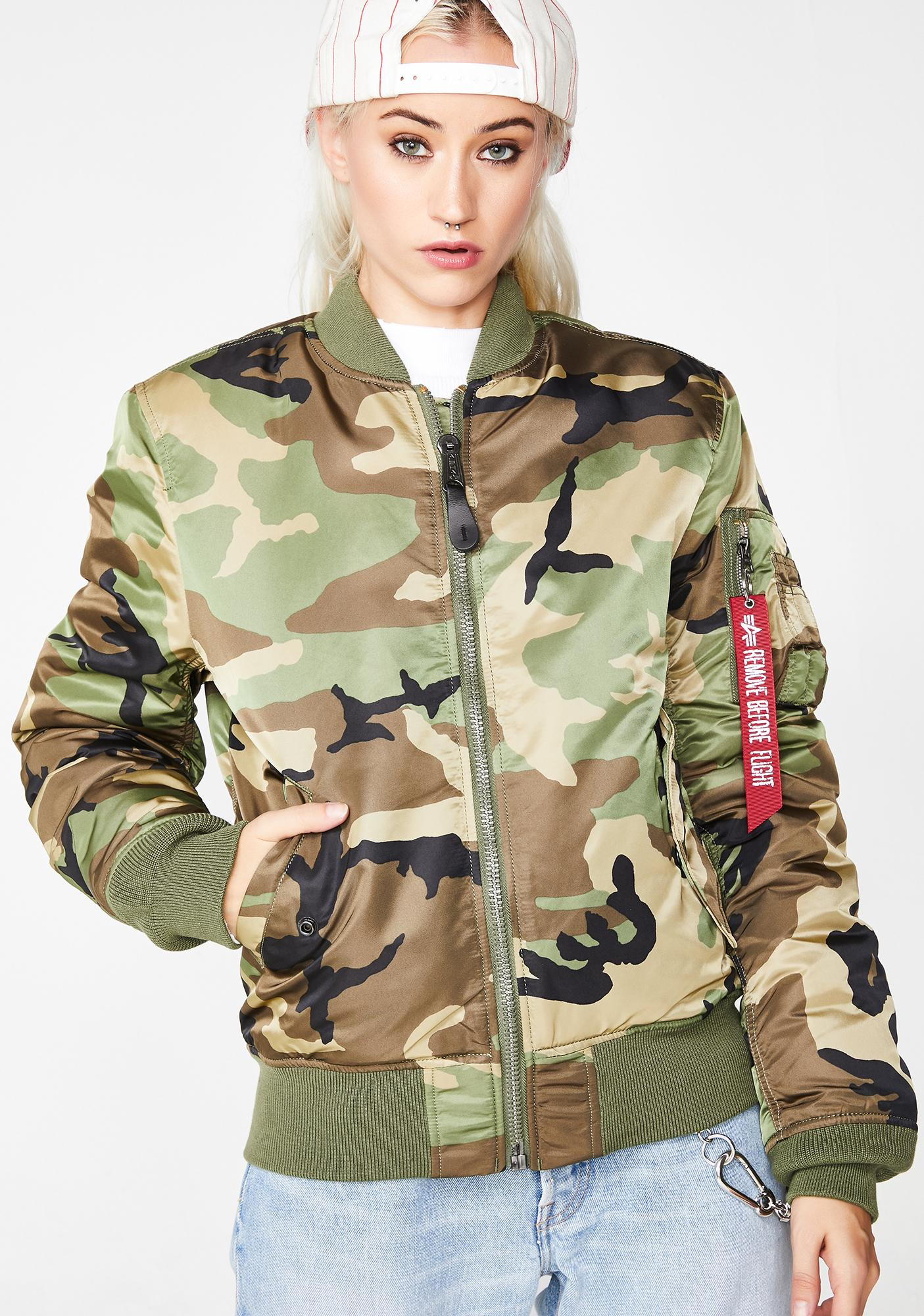 9f231a4da4a04 Alpha Industries Camo MA-1 Slim Jacket