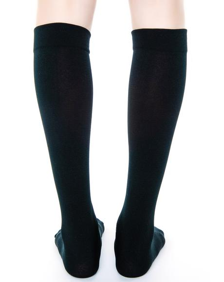Fleece-Lined Knee Highs