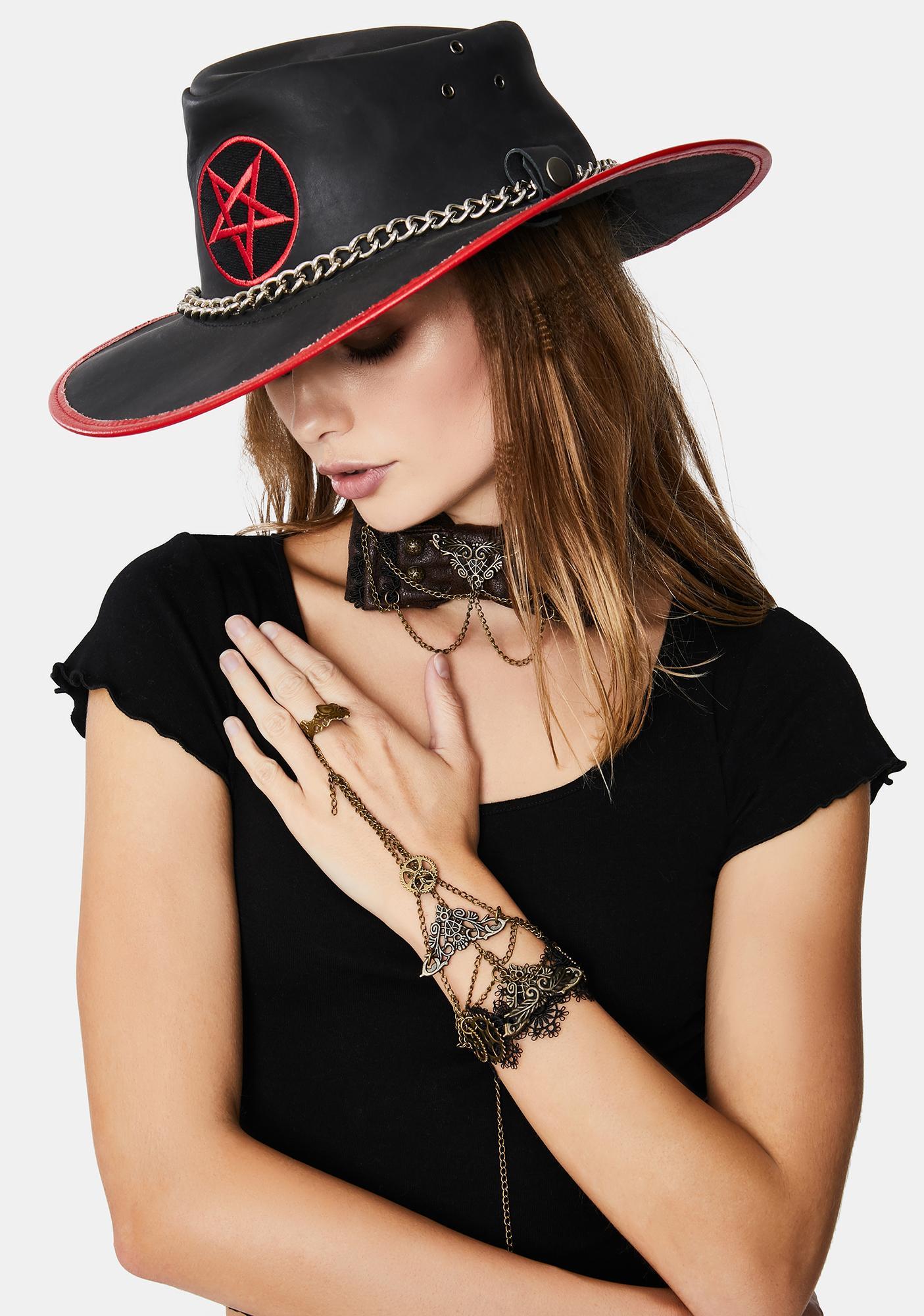 Devil Fashion Gold Middle Finger Chain