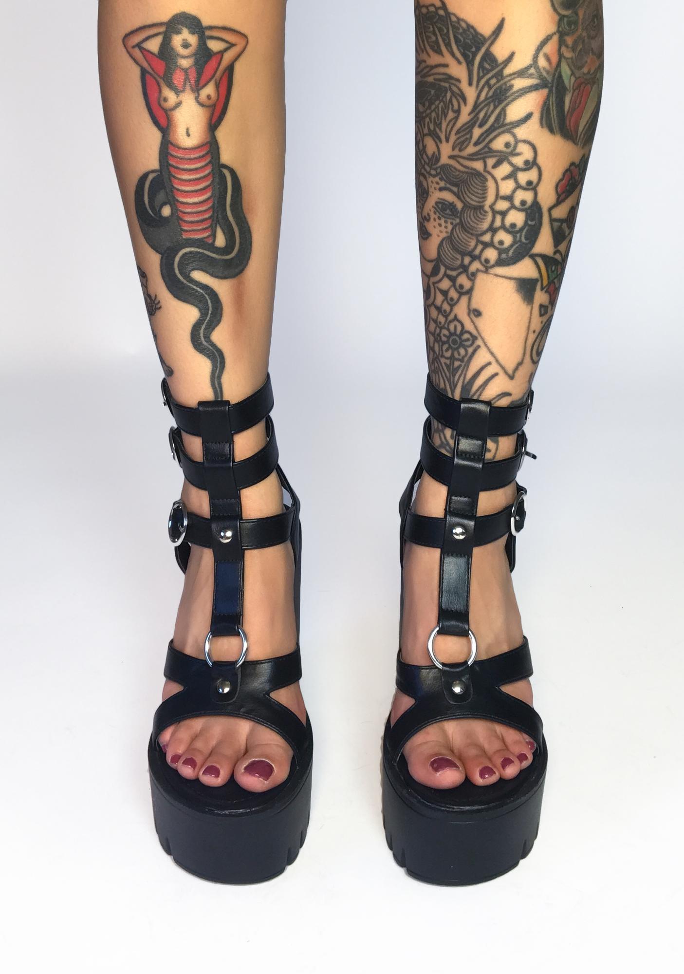 Fear Nothing Platform Heels