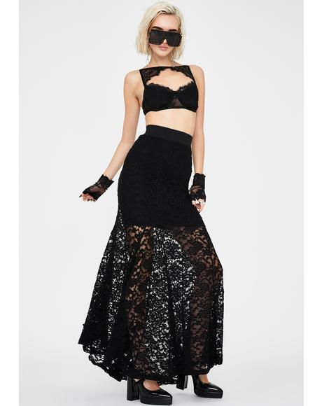 Morose Mystique Lace Skirt