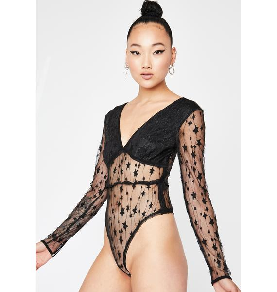 Starry Night Song Sheer Bodysuit