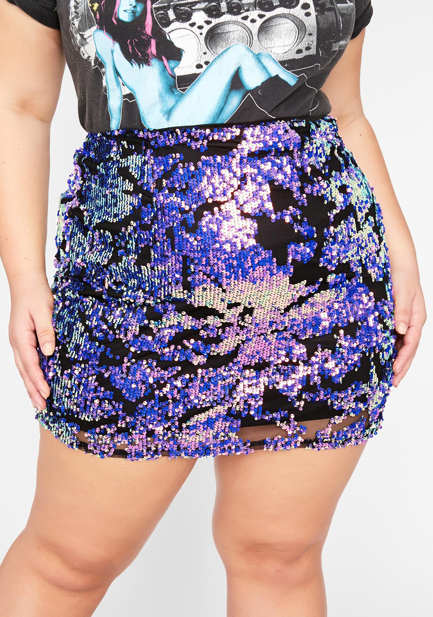 True Hashtag Habits Sequin Skirt