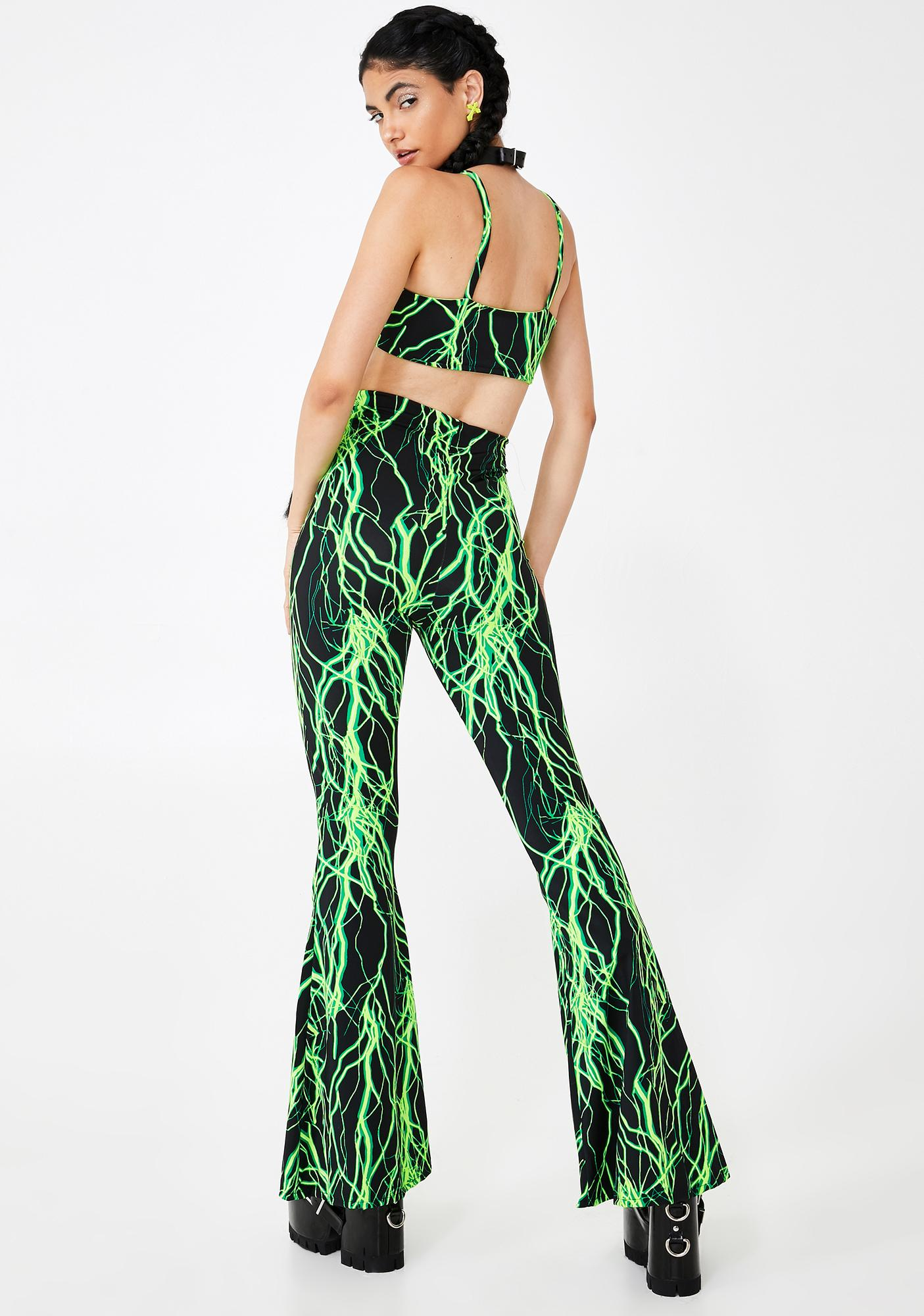 The Volt Limewire Flared Pants