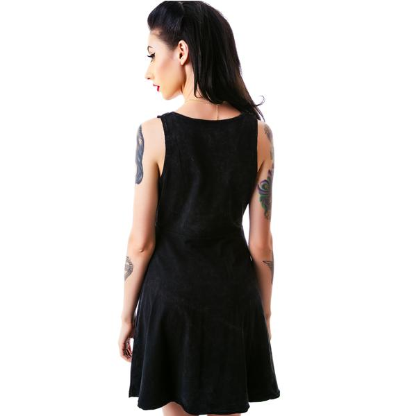 Sourpuss Clothing Cowl Neck Dirty Snow Dress