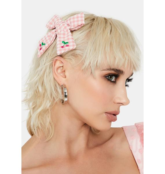 So Cute Gingham Bow Hair Clip