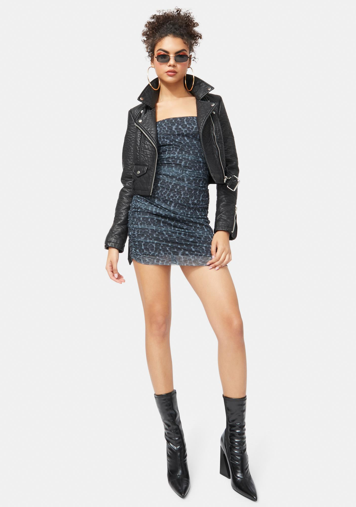 Party Animal Ruched Mini Dress