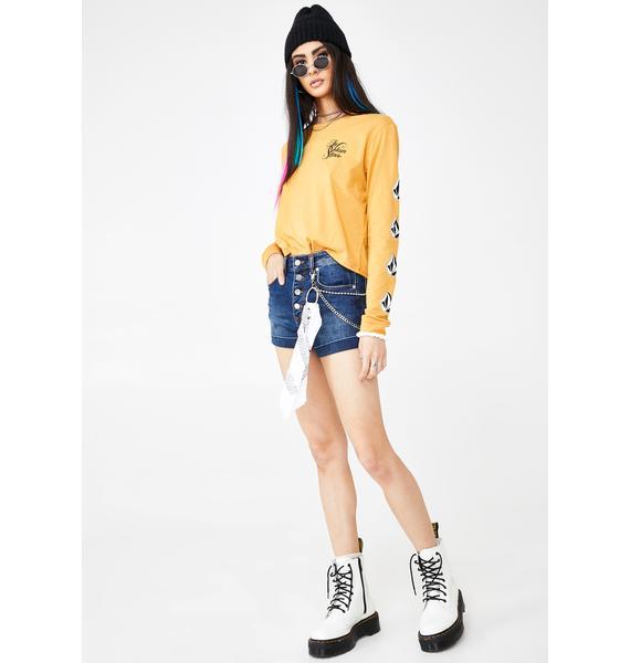 Volcom Vol Stone Denim Shorts