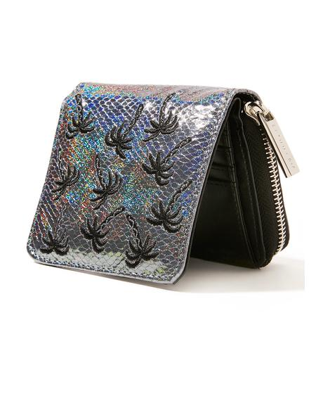 Palm Shimmer Mini Purse