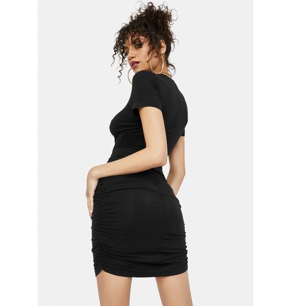Ink Devoted To You Ruched Mini Dress