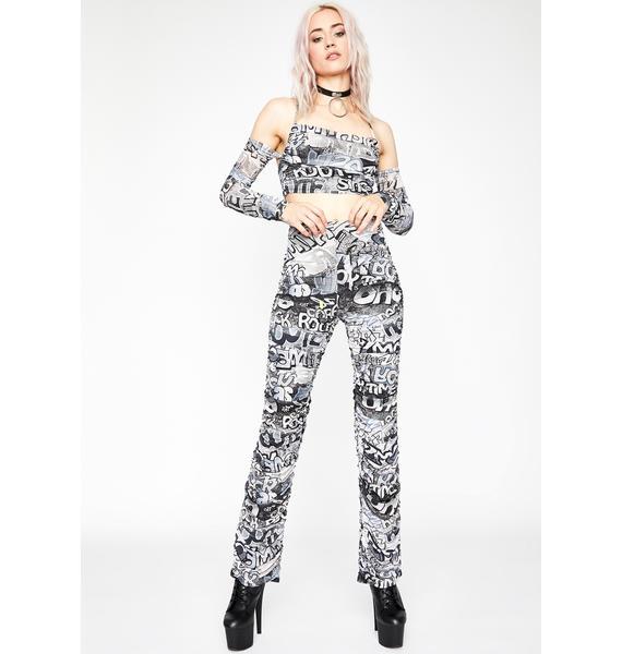 Grunge Urban Melody Ruched Pants