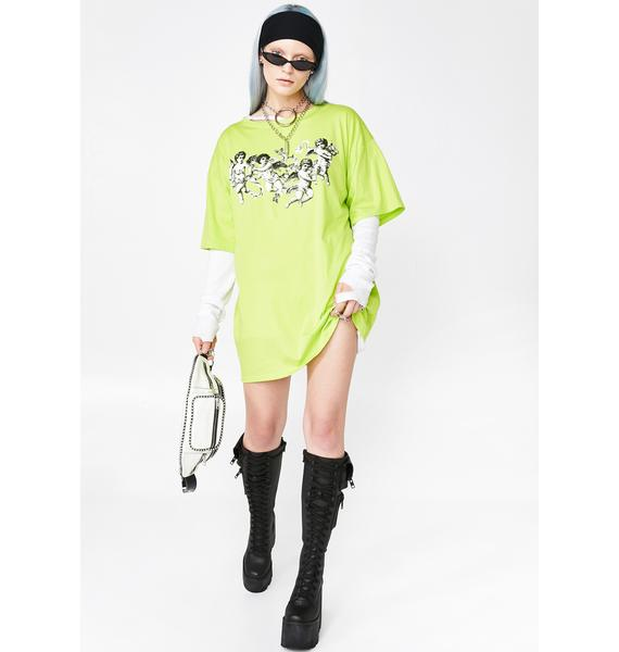 Motel Cherub Sunny Kiss Tee Dress