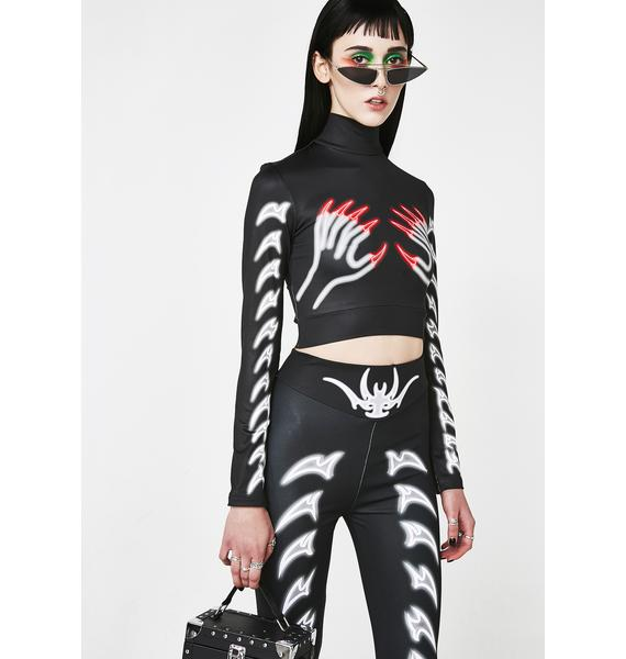 Long Clothing x Nympha Nexo Claw Crop Top