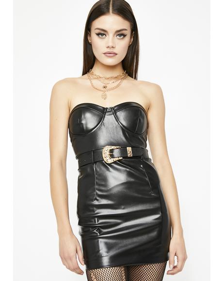 Moto Madness Leather Dress