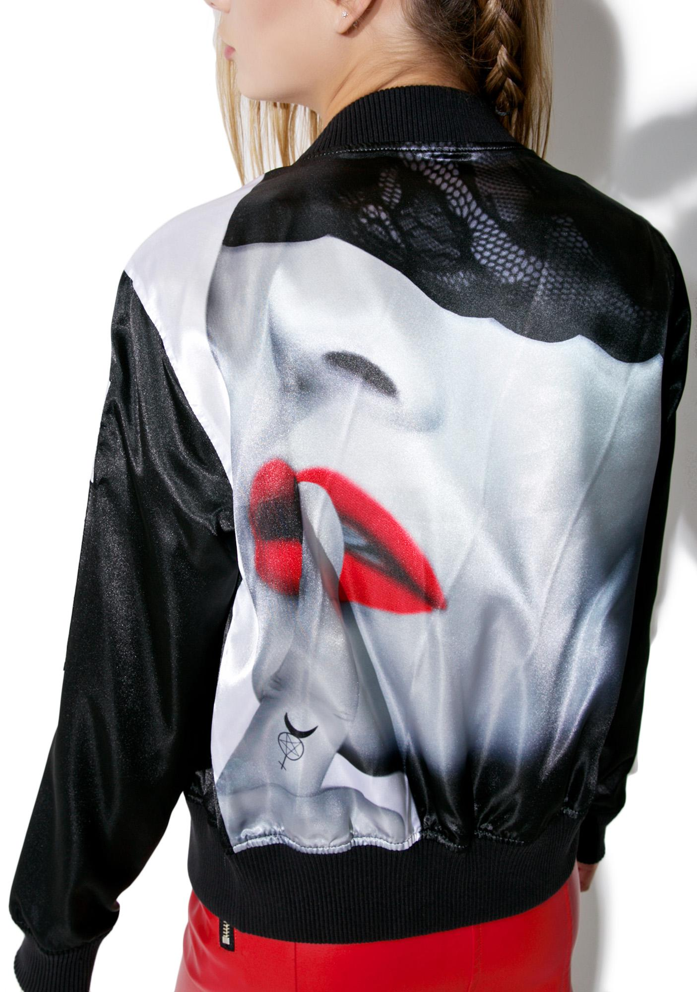 Black scale leather jacket