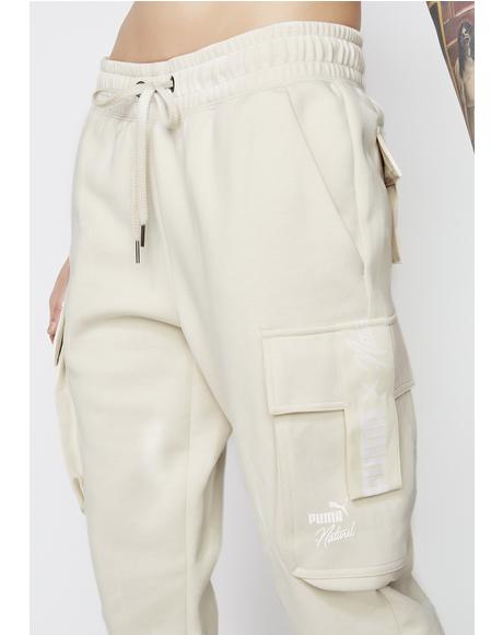 x Naturel Cargo Pants