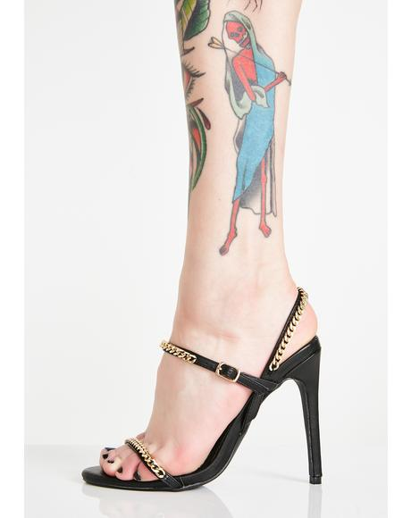 Chains on Chains Strappy Heels