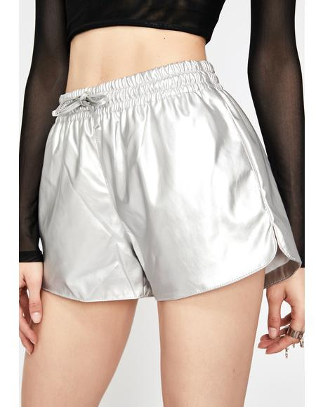 Chrome Interstellar High Metallic Shorts